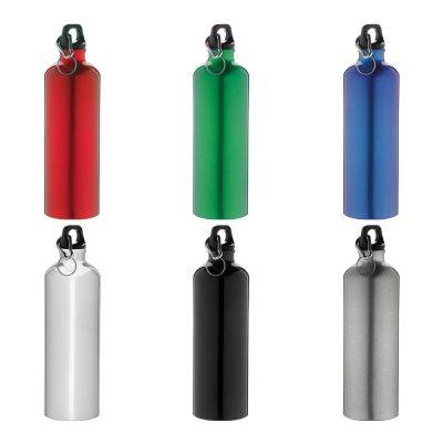 borracce in alluminio colorate con moschettone
