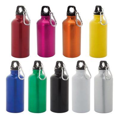 borracce piccole in alluminio colorate con moschettone