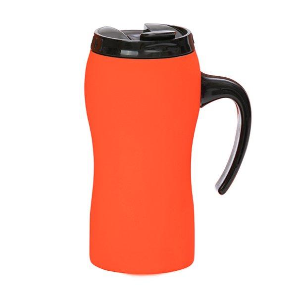 Tazza da viaggio personalizzata a chiusura ermetica con manico BC-903T arancio