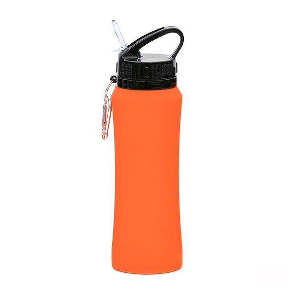 Borraccia in acciaio con beccuccio e moschettone personalizzata BC-904 arancio