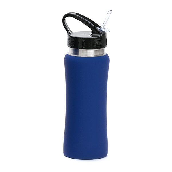 Borraccia in acciaio con beccuccio personalizzata BC-905 blu scuro