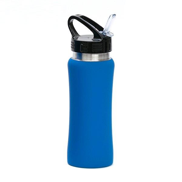 Borraccia in acciaio con beccuccio personalizzata BC-905 blu